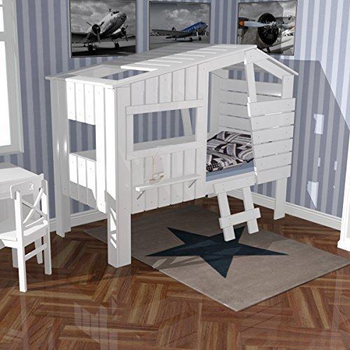 lounge-zone Dannenfelser Baumhausbett Strandhaus weiß