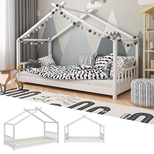 Vicco Kinderbett Hausbett Design 90x2000cm Kinder Bett Holz Haus Schlafen Hausbett Spielbett Inkl. Lattenrost - 2