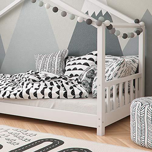 Vicco Kinderbett Hausbett Design 90x2000cm Kinder Bett Holz Haus Schlafen Hausbett Spielbett Inkl. Lattenrost - 5