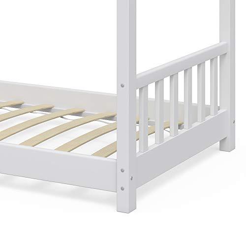 Vicco Kinderbett Hausbett Design 90x2000cm Kinder Bett Holz Haus Schlafen Hausbett Spielbett Inkl. Lattenrost - 6