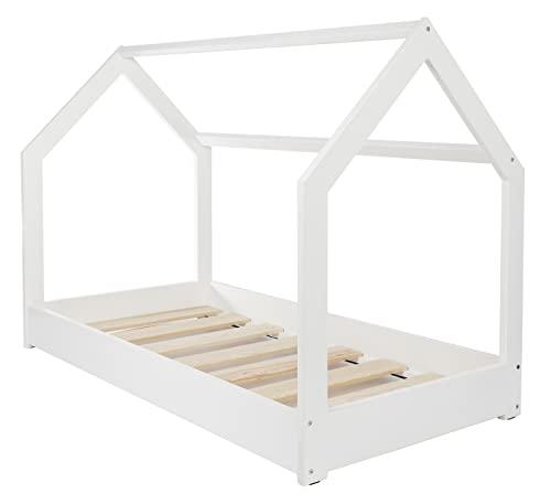 Velinda Kinderbett Hausbett weiß (skandinavisches Design)