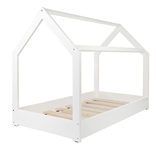 Velinda Kinderbett Hausbett Spielbett Einzelbett skandinavisches Design 190x90cm (Farbe: Weiß) - 2