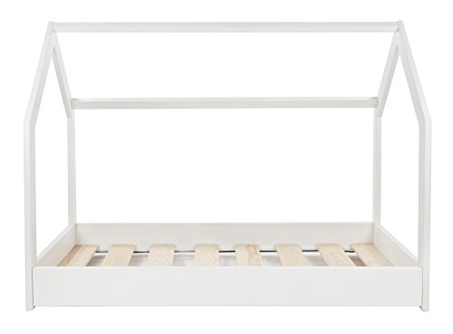 Velinda Kinderbett Hausbett Spielbett Einzelbett skandinavisches Design 190x90cm (Farbe: Weiß) - 3