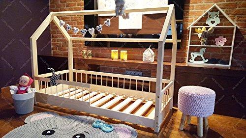 Oliveo Kinder-Hausbett Lisa Naturholz