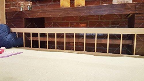 Oliveo HAUSBETT KINDERHAUS Lisa Bett für Kinder,Kinderbett Spielbett mit SICHERHEITBARRIEREN (120 x 60 cm, Naturholz) - 7