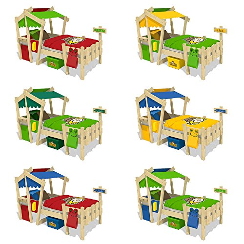 WICKEY Kinderbett 'CrAzY Candy' - Einzelbett in verschiedenen Farbkombinationen - 90x200 cm - 5
