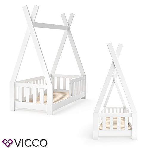 Vicco Kinderbett Tipi Indianer Bett Kinderhaus Zelt Holz Hausbett 70x140cm Weiß++++ MASSIVHOLZ +++ HOCHWERTIG ++++ - 6
