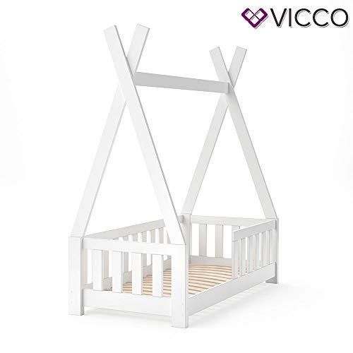 Vicco Kinderbett Tipi Indianer Bett Kinderhaus Zelt Holz Hausbett 70x140cm Weiß++++ MASSIVHOLZ +++ HOCHWERTIG ++++ - 7