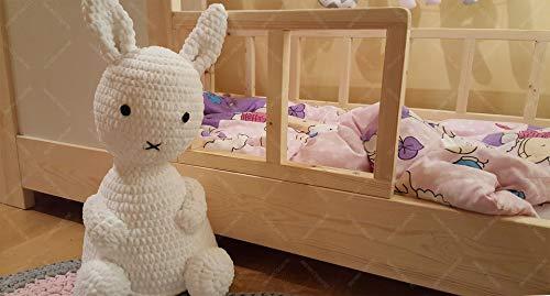 Oliveo HAUSBETT KINDERHAUS Bett für Kinder,Kinderbett Spielbett mit SICHERHEITSBARRIEREN (190 x 90 cm, Naturholz) - 3