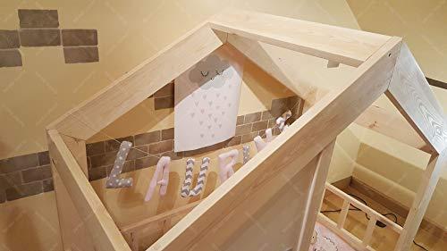 Oliveo HAUSBETT KINDERHAUS Bett für Kinder,Kinderbett Spielbett mit SICHERHEITSBARRIEREN (190 x 90 cm, Naturholz) - 6