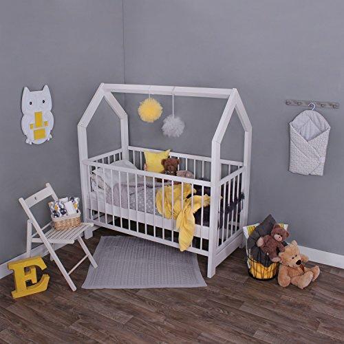 KAGU 5906395798452 Kinder Innovatives und Abenteuerbett Hausbett für jedes Kinderzimmer, weiß - 3
