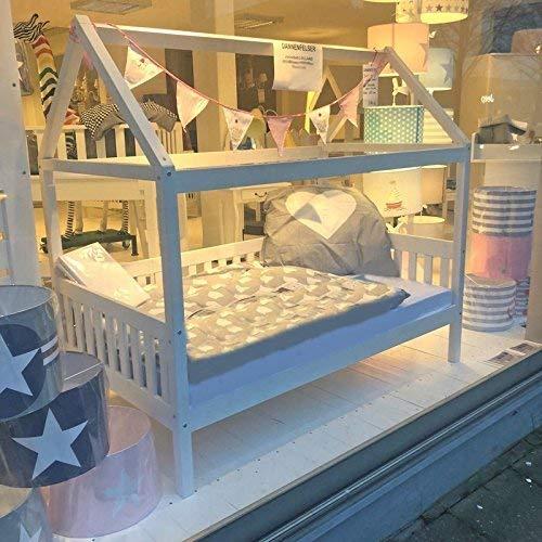 Hausbett Lolland 2 (Kinderbett mit Dachaufbau) inkl. Lattenrost
