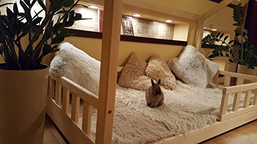 Oliveo HAUSBETT KINDERHAUS Bett für Kinder,Kinderbett mit Schublade, mit SICHERHEITBARRIEREN (Natürliches Holz, 120 x 60 cm) - 3