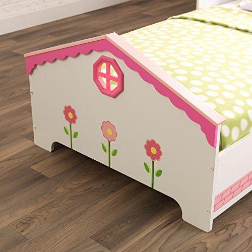 KidKraft 76255 Kinderbett im Puppenhaus-Stil aus Holz für Kleinkinder Möbel für Kinderzimmer - 11