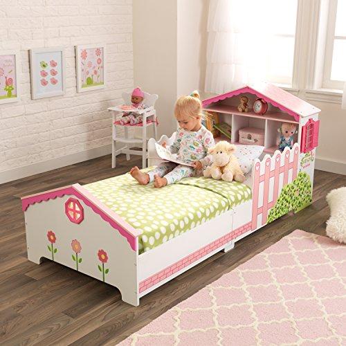 KidKraft 76255 Kinderbett im Puppenhaus-Stil aus Holz für Kleinkinder Möbel für Kinderzimmer - 3