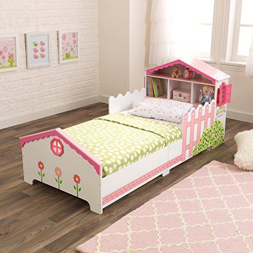 KidKraft 76255 Kinderbett im Puppenhaus-Stil aus Holz für Kleinkinder Möbel für Kinderzimmer - 4