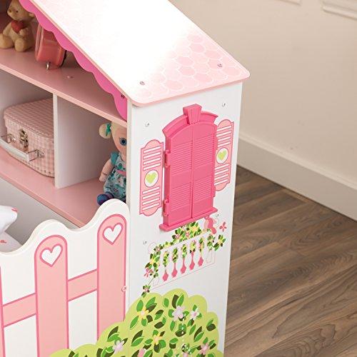 KidKraft 76255 Kinderbett im Puppenhaus-Stil aus Holz für Kleinkinder Möbel für Kinderzimmer - 5