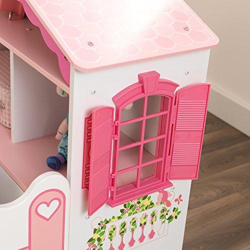 KidKraft 76255 Kinderbett im Puppenhaus-Stil aus Holz für Kleinkinder Möbel für Kinderzimmer - 7
