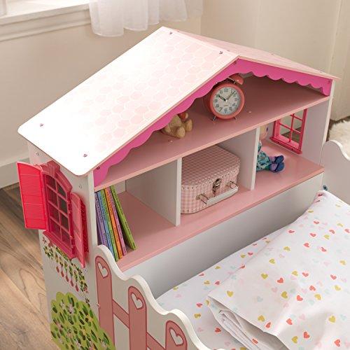 KidKraft 76255 Kinderbett im Puppenhaus-Stil aus Holz für Kleinkinder Möbel für Kinderzimmer - 8
