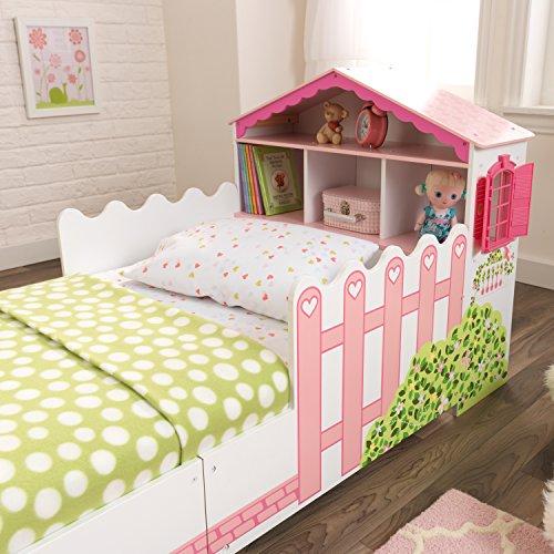 KidKraft 76255 Kinderbett im Puppenhaus-Stil aus Holz für Kleinkinder Möbel für Kinderzimmer - 9