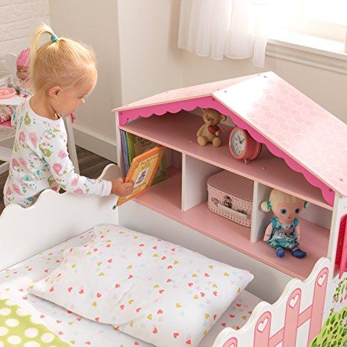 KidKraft 76255 Kinderbett im Puppenhaus-Stil aus Holz für Kleinkinder Möbel für Kinderzimmer - 10
