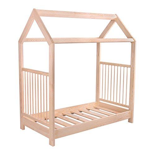 KAGU 5906395798506 Kinder Innovatives und Abenteuerbett Hausbett für jedes Kinderzimmer, beige - 6