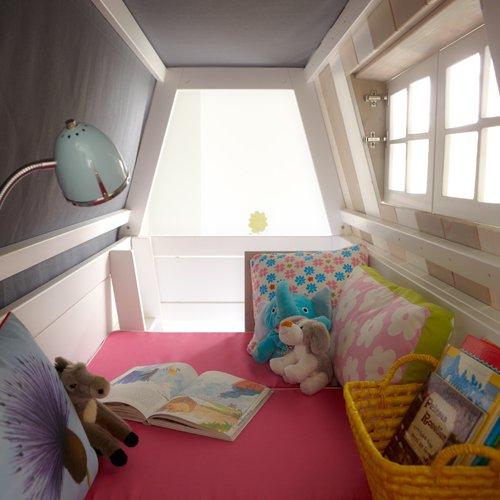 lounge-zone Abenteuerbett/Spielbett HANG OUT, whitewash, Massivholz lasiert, 90x200cm 11302 - 4