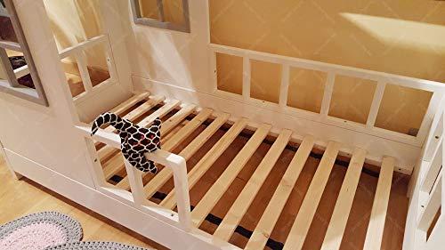 Oliveo New Mon Kinderbett, Bett, Kinderbett, Bett, Hüttenbett mit Gitter - 2