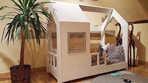 Oliveo New Mon Kinderbett, Bett, Kinderbett, Bett, Hüttenbett mit Gitter - 5