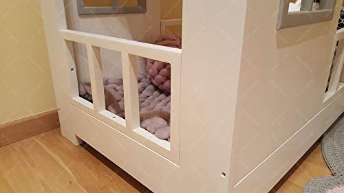 Oliveo New Mon Kinderbett, Bett, Kinderbett, Bett, Hüttenbett mit Gitter - 6