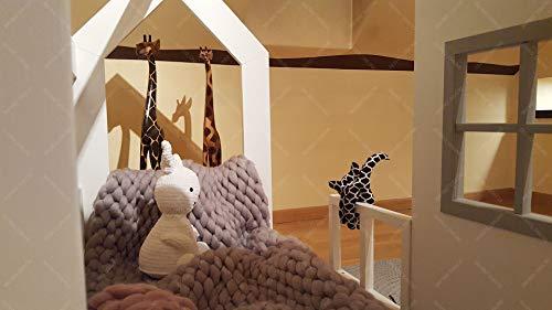 Oliveo New Mon Kinderbett, Bett, Kinderbett, Bett, Hüttenbett mit Gitter - 7