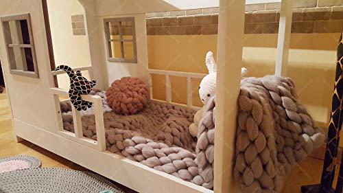 Oliveo New Mon Kinderbett, Bett, Kinderbett, Bett, Hüttenbett mit Gitter - 8