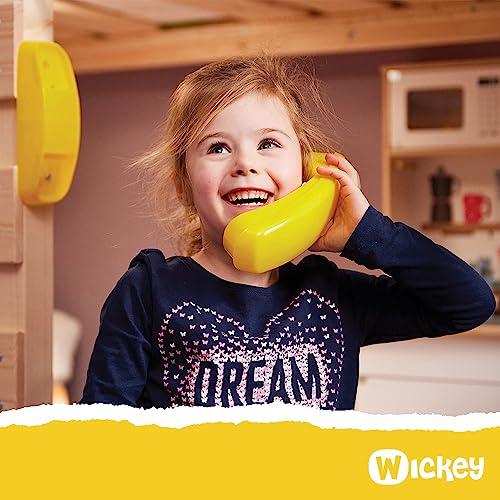 WICKEY Etagenbett CrAzY Ivy Spielbett für 2 Kinder Hochbett mit Dach, Kletterleiter und Lattenboden, rot-apfelgrün, 90x200 cm - 2