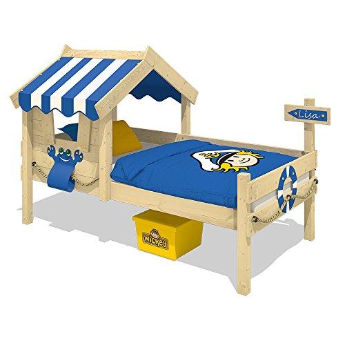 WICKEY Kinderbett CrAzY Sharky Einzelbett 90x200cm Abenteuerbett mit Lattenboden, blau - 2