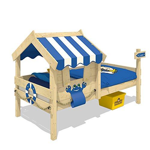 WICKEY Kinderbett CrAzY Sharky Einzelbett 90x200cm Abenteuerbett mit Lattenboden, blau - 3