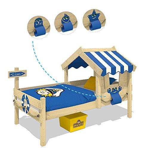 WICKEY Kinderbett CrAzY Sharky Einzelbett 90x200cm Abenteuerbett mit Lattenboden, blau - 4