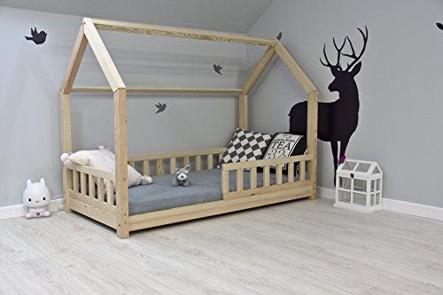 Best For Kids Kinder-Hausbett mit herausnehmbarem Rausfallschutz