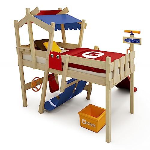 WICKEY Kinderbett 'CrAzY Hutty' mit Rutsche - Hochbett in verschiedenen Farbkombinationen - 90x200 cm - 4