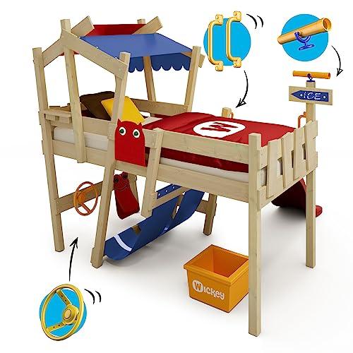 WICKEY Kinderbett 'CrAzY Hutty' mit Rutsche - Hochbett in verschiedenen Farbkombinationen - 90x200 cm - 6